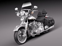 bike harley davidson heritage 3d model