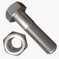 3d hex bolt nut