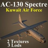 ac-130 spectre kaf 3d model