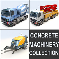 Concrete machinery pack