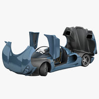 3d car minotaur mk2 rigged