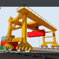 rmg crane 3d 3ds