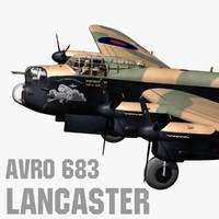 avro 683 lancaster 3d max