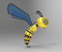robotic bee 3d model