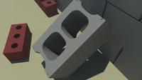 free bricks materials 3d model