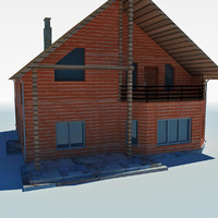 low poly cottage house 6
