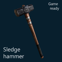 3d hammer sledgehammer sledge model