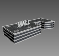 low poly Mall trade center