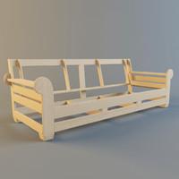 3d sofa frame model