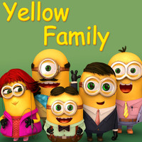 3d yellow family model
