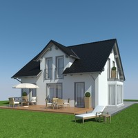 3ds max family house