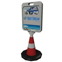pavement advertising sign m-02 3d model