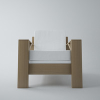 3d armchair carpenter model