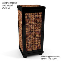 3d athena madras wood cabinet model