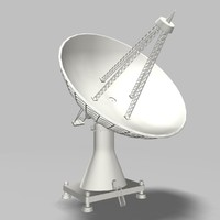 satellite dish 3d max