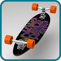 sector 9 complete longboard 3d model