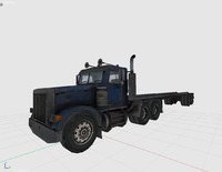 3d model track heavy vehicle