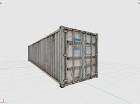 shipping cargo container 3ds