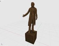 male bronze statue 3d model