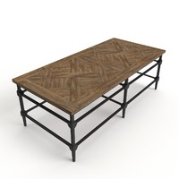 3d model parquet coffee table
