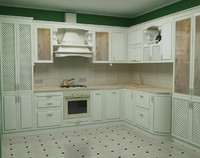 3d classical kitchen