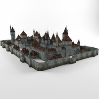 3d ancient castle model
