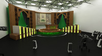 TV Studio Interior Scene