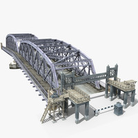 3ds max bridge steel