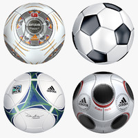 modeled soccer balls 3d model