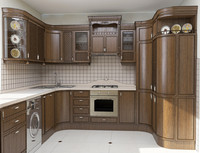3ds max wood kitchen