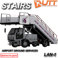 self propelled stairs tta-s 3d model