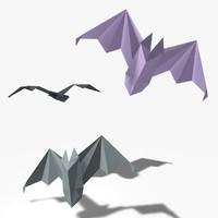 origami bat 3d model