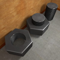 Photorealistic Detailed Nut and Bolt