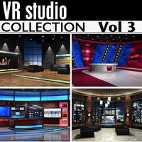 tv news studios collections 3d max