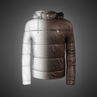 3d model male leather jacket