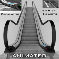 Escalator 6m high animated
