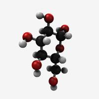glucose molecule 3d lwo
