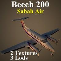 3d model beech sax