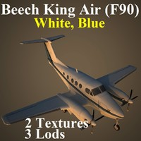 beech king blu aircraft 3d max