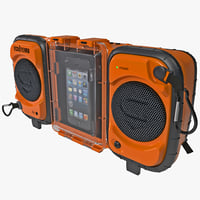 3d c4d iphone 5 stereo boombox