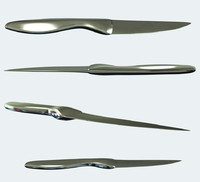3d model knife metal