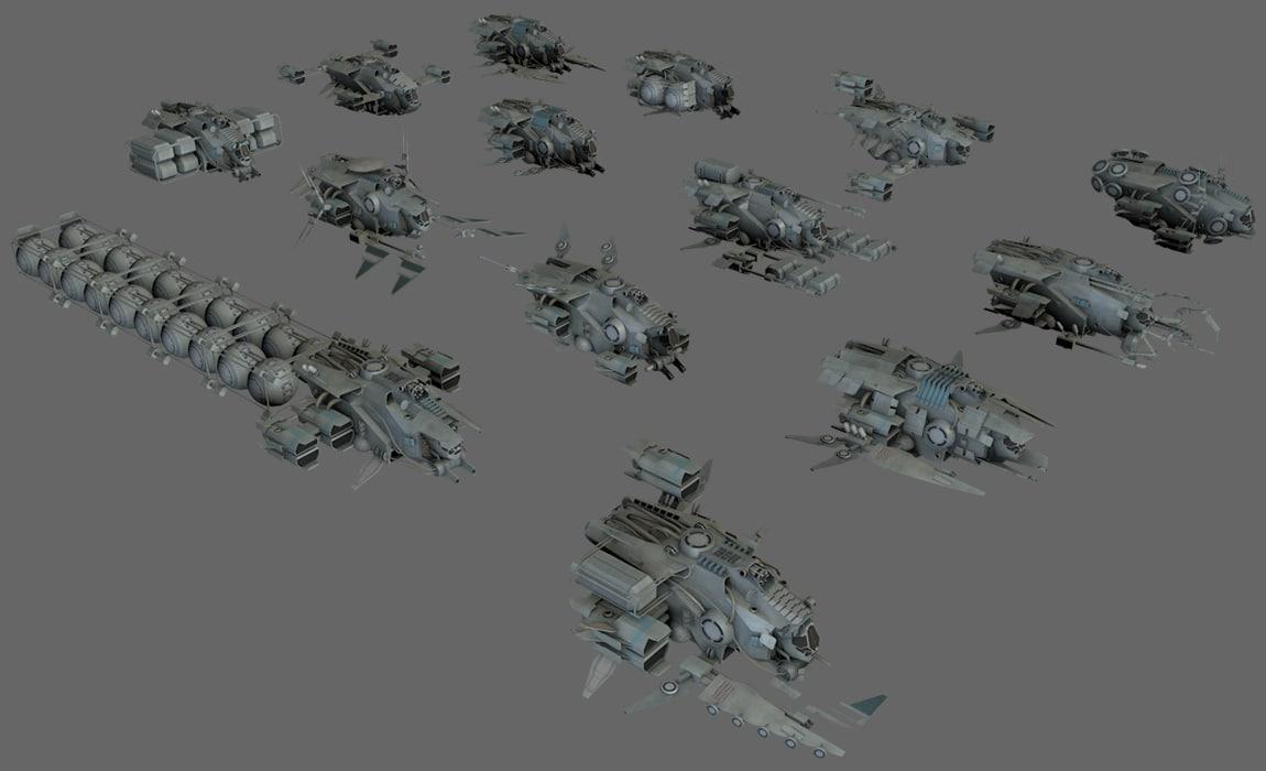 3ds max ship modular
