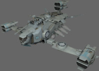 3d heavy fighter model