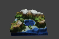 free mountains heightmap 3d model