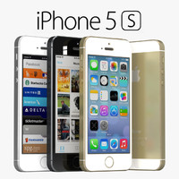 3d apple iphone 5s gray