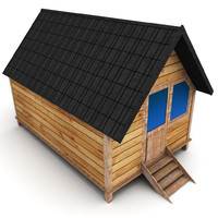 small wooden house 3ds