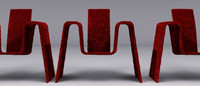 maya chair design red