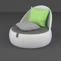lounge furniture chair dala 3d model