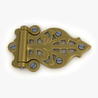 retro door gate hinge 3d model