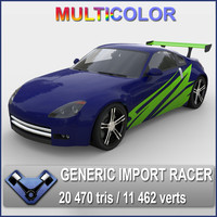 3d generic t racer katamori model
